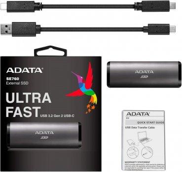 Накопичувач SSD USB 3.2 512GB ADATA (ASE760-512GU32G2-CTI)