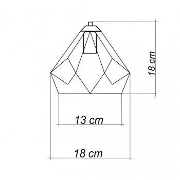 Светильник поворотный на 1-лампу SKRAB/LS E27 бра золото