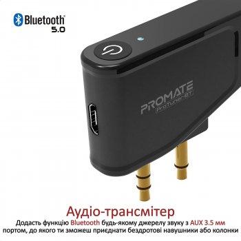Bluetooth трансмиттер Promate ProTuner-BT Black (protuner-bt.black)