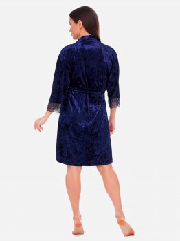 Халат Martelle Lingerie M-201 велюр Темно-синий