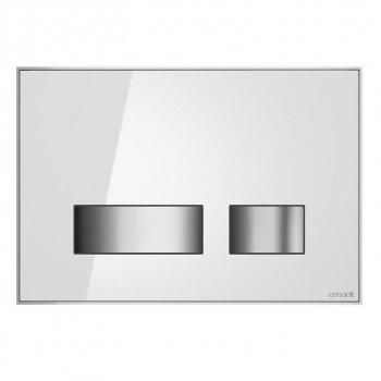 Кнопка слива MOVI белое стекло Cersanit (000019658)