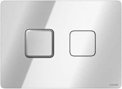 Кнопка смыва ACCENTO SQUARE PNEUMATIC глянец хром Cersanit (000019668)