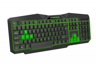 Клавиатура Esperanza EGK201 (EGK201GUA) Green USB
