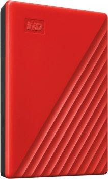 """Накопичувач зовнішній HDD 2.5"""" USB 4.0 TB WD My Passport Red (WDBPKJ0040BRD-WESN)"""