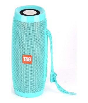 Портативная bluetooth колонка влагостойкая TG-157 Pulse с разноцветной подсветкой Бирюза