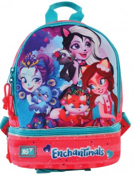 Рюкзак детский Yes K-21 Enchantimals для девочек 0.2 кг 21.5х27х11.5 см 6.5 л (556446)