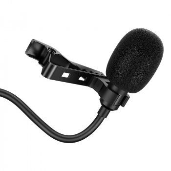 Мікрофон петлічний HOCO Desired wired mini Clip microphone DI02 | AUX, 2M |. Black