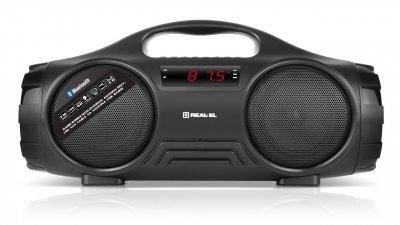 Портативный музыкальный центр бумбокс REAL-EL X-727 Black