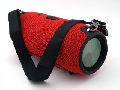 Акустична потужна портативна вологозахисна система Bluetooth колонка T&G Xtreme Bass, переносна з функцією гучний зв'язок і FM радіо. Червона