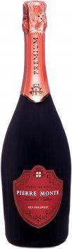 Ігристе вино Pierre Monte червоне напівсолодке 0.75 л 10.5-13.5% (4841676002211)