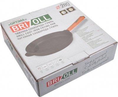 Сковорода-гриль Brizoll Optima чавунна з ручкою 280х50 мм (559-113)