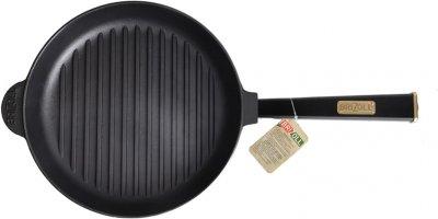 Сковорода-гриль Brizoll Optima-black чавунна з ручкою 260х40 мм (559-204)