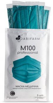 Медицинские маски Abifarm M100 с индикатором влажности, 4-слойные, стерильные, 5 шт (1М1002) (4820238360051)