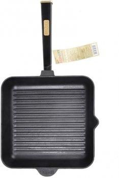 Сковорода-гриль Brizoll Optima-black чавунна квадратна з ручкою 280х280х50 мм (559-211)
