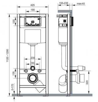 Система инсталляционная Cersanit High-Tech Без кнопки (9091)