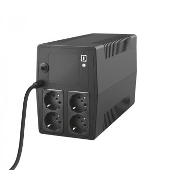 ДБЖ Trust Paxxon UPS 1500VA with 4 standard wall power outlets BLACK