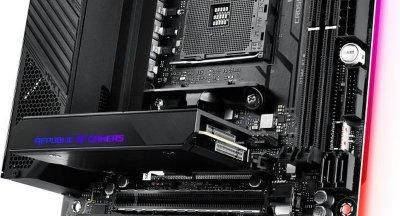 Материнська плата ASUS CROSSHAIR_VIII_IMPACT sAM4 X570 2xDDR4 PCIe 4.0 Wi-Fi!!!BT mITX