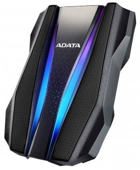 """Жорсткий диск ADATA 2.5"""" USB 3.2 1TB HD770G захист IP68 RGB Black"""