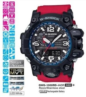 Годинник CASIO GWG-1000RD-4AER