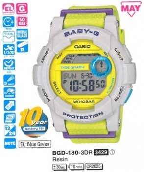 Годинник CASIO BGD-180-3ER