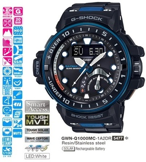 Годинник CASIO GWN-Q1000MC-1A2ER