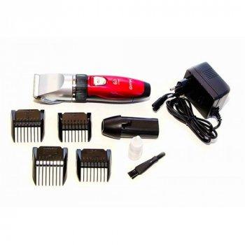 Машинка для стрижки волосся Gemei Geemy GM-6001 акумулятор Червона 48135