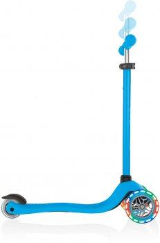 Самокат Globber серии Primo Lights голубой, колеса с подсветкой до 50 кг 3+ (423-101-3)