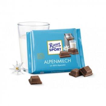 Шоколад молочний Ritter Sport Alpenmilch Альпійське молоко 100 г * 5 шт
