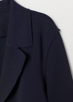 Пальто H&M 746268 Темно-синее