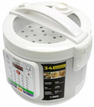 Мультиварка-скороварка, йогуртниця GoVern RMC532-W (ROTEX) пароварка, мультиповар з таймером Білий