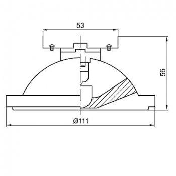 Лампа галогенна AR-111 50W 24° G53 12V Brilum