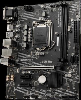 Материнская плата MSI H410M Pro-E (s1200, Intel H410, PCI-Ex16)