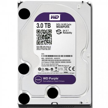 Жорсткий диск WD Purple 3.5 3.0 TB