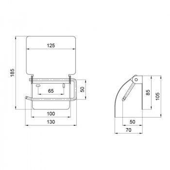 Тримач для туалетного паперу Lidz (CRM)-121.04.04
