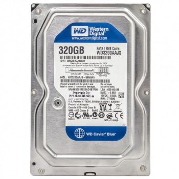 Жорсткий диск Western Digital Caviar Blue 320GB 7200prm 8MB 3.5 SATAII заводське відновлення (WD3200AAJS-FR) - Refurbished