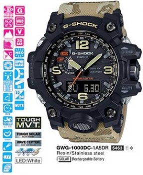 Годинник CASIO GWG-1000DC-1A5ER