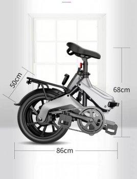 Електро Велосипед GDANNY S9 (Сірий)