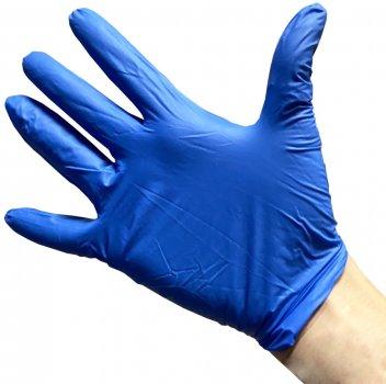 Перчатки медицинские нитриловые смотровые Optima Gloves нестерильные неопудренные S 50 пар Синие (52-118)