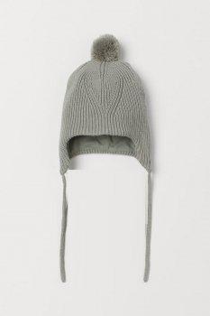 Зимняя шапка с завязками H&M 0775450 0 46-48 см Светло-зеленая (2000001741917)