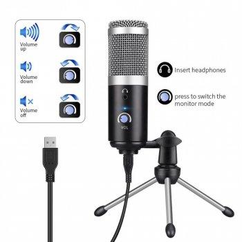 Студійний конденсаторний USB мікрофон 4sport (MA-AK5)