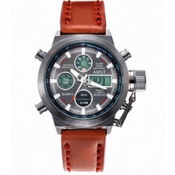 Армейские наручные часы AMST PRO Brown Original