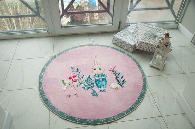 Килим дитячий Казка зайченя - Ø1.6м. КилимОК