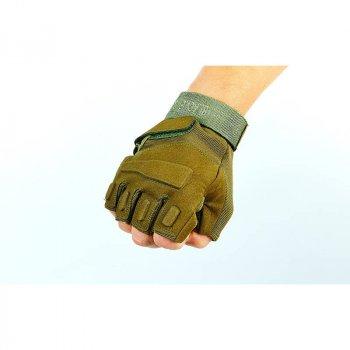 Перчатки тактические с открытыми пальцами Tactical Blackhawk, код: BC-4380