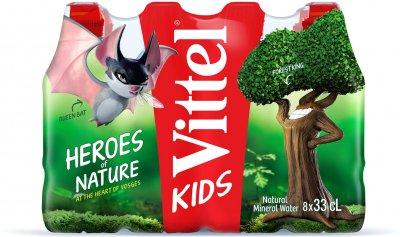 Упаковка мінеральної негазованої води Vittel Kids 0.33 л х 8 пляшок (7613039426104)