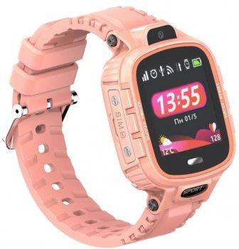 Дитячий телефон-годинник з GPS-трекером GOGPS ME K27 Pink (K27PK)