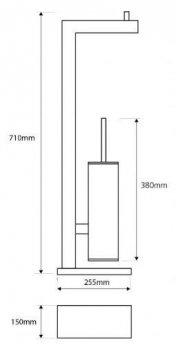 Стійка для туалету Bemeta BETA 132836012