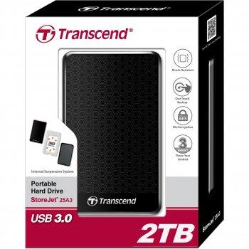 Накопичувач зовнішній на Transcend 2 TB StoreJet 25A3[] TrnscndTS2TSJ25A3K