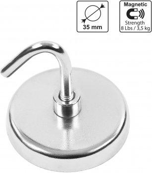 Набор магнитных крючков S&R диаметр 35 мм до 3.5 кг 5 шт (290903005)