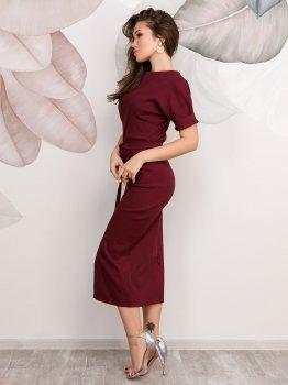 Платье ISSA PLUS 12508 Бордовое