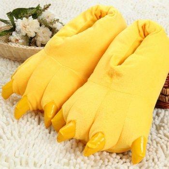 Плюшевые тапочки игрушки Коготки желтые My kigu 30 см универсальный